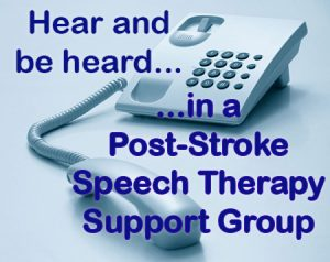 post-stroke speech therapy support group